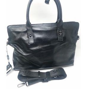 Sammons Slim Leather Laptop Briefcase